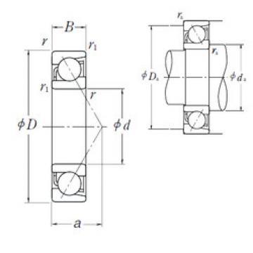 7021 C NSK Angular Contact Ball Bearings