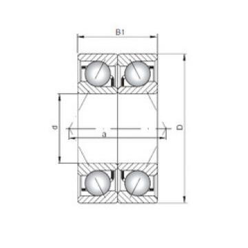 7038 CDB ISO Angular Contact Ball Bearings