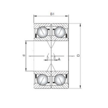 7009 B-UX CX Angular Contact Ball Bearings