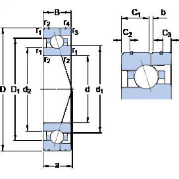 7018 CE/P4AL SKF Angular Contact Ball Bearings