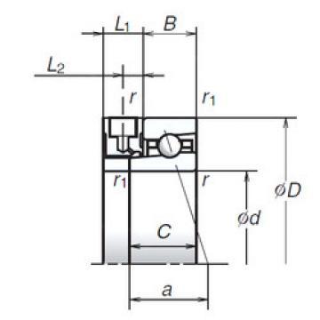 55BER10XE NSK Angular Contact Ball Bearings