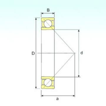70/530 B ISB Angular Contact Ball Bearings