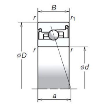 55BER20XV1V NSK Angular Contact Ball Bearings