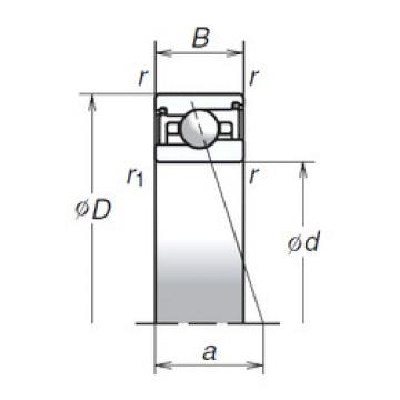 55BER29HV1V NSK Angular Contact Ball Bearings
