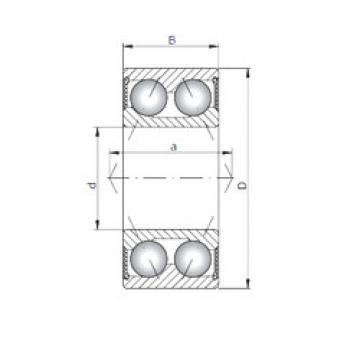 3800-2RS ISO Angular Contact Ball Bearings