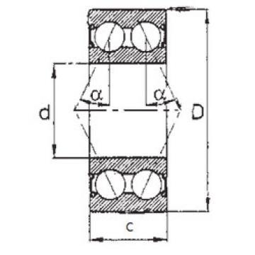 5314-2RS FBJ Angular Contact Ball Bearings