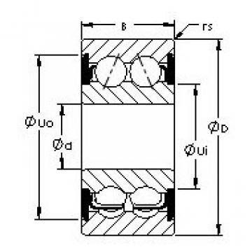 5216-2RS AST Angular Contact Ball Bearings