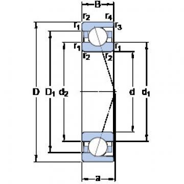 7000 ACD/P4A SKF Angular Contact Ball Bearings
