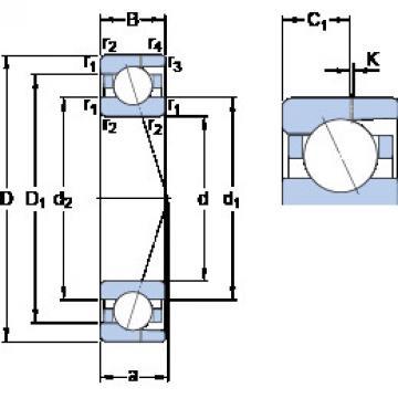7000 CD/HCP4AH SKF Angular Contact Ball Bearings