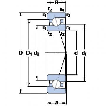 7000 ACE/HCP4A SKF Angular Contact Ball Bearings