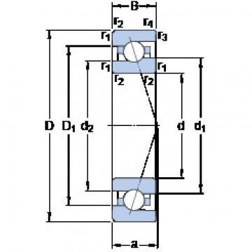 7000 CE/HCP4A SKF Angular Contact Ball Bearings