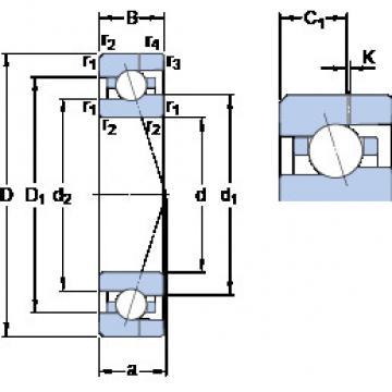 7000 CE/P4AH SKF Angular Contact Ball Bearings