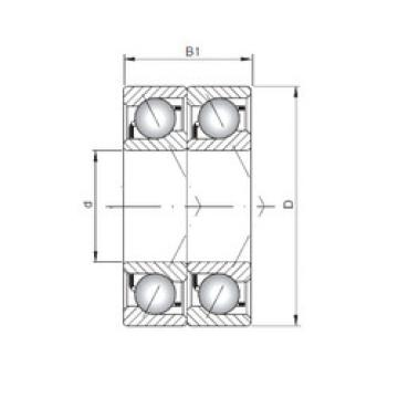 7000 B-UD CX Angular Contact Ball Bearings