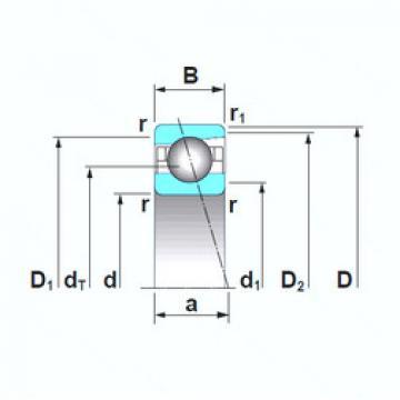 7000CTRSU NSK Angular Contact Ball Bearings
