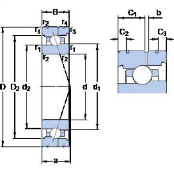 7012 CB/P4AL SKF Angular Contact Ball Bearings