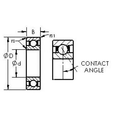 71816C AST Angular Contact Ball Bearings